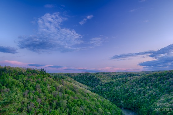 Big South Fork Vista by Byron Jorjorian